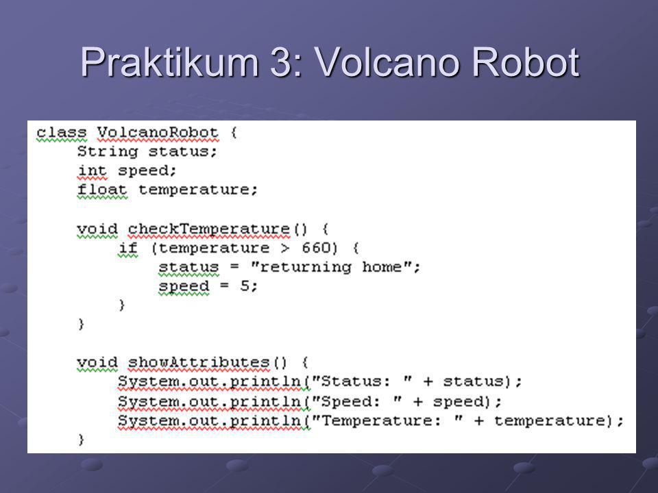 Praktikum 3: Volcano Robot