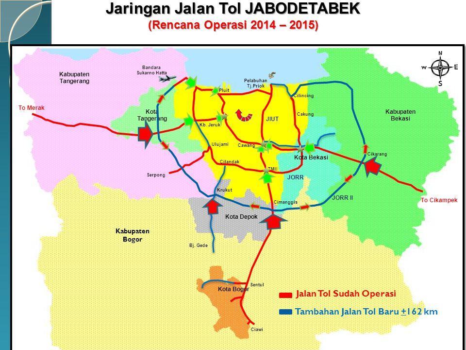To Merak To Cikampek Kota Bogor Kabupaten Bogor Kota Depok Kota Tangerang Kota Bekasi Kabupaten Tangerang Kabupaten Bekasi JIUT JORR JORR II Kb. Jeruk