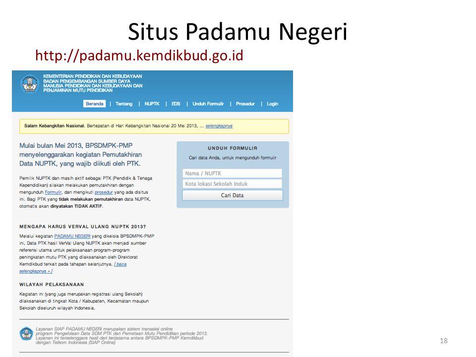 Situs Padamu Negeri 18 http://padamu.kemdikbud.go.id