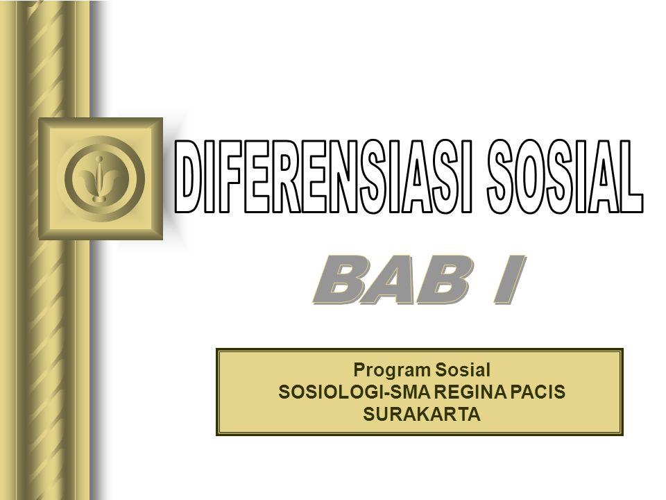 Program Sosial SOSIOLOGI-SMA REGINA PACIS SURAKARTA