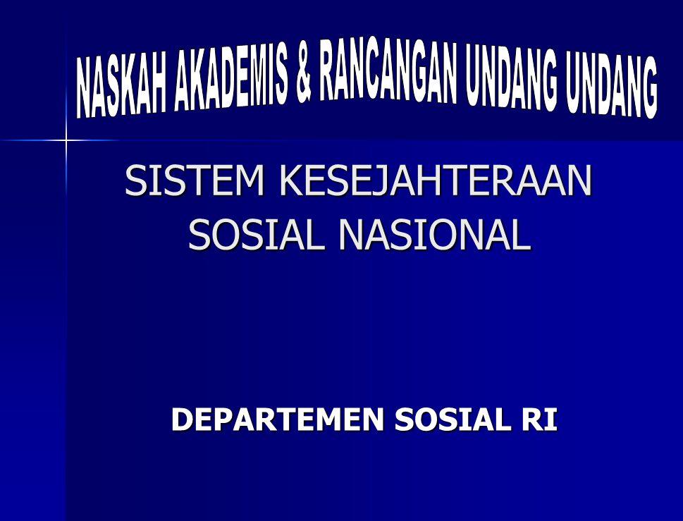 SISTEM KESEJAHTERAAN SOSIAL NASIONAL DEPARTEMEN SOSIAL RI