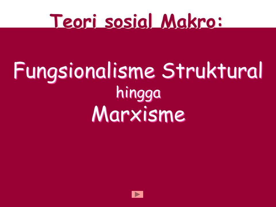 Teori sosial Makro: Fungsionalisme Struktural hingga Marxisme