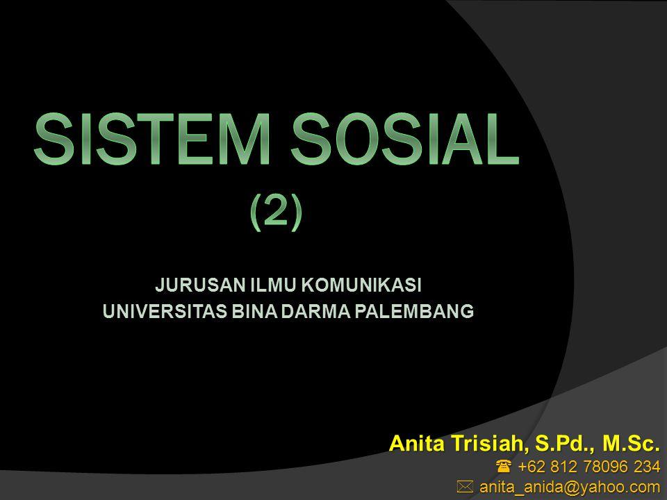 JURUSAN ILMU KOMUNIKASI UNIVERSITAS BINA DARMA PALEMBANG Anita Trisiah, S.Pd., M.Sc.
