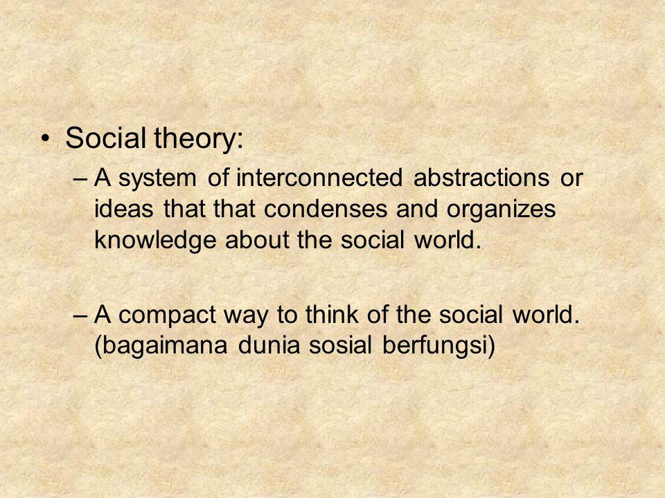 Facts vs.theory: –Empiricist: fakta dan teori berbeda total.