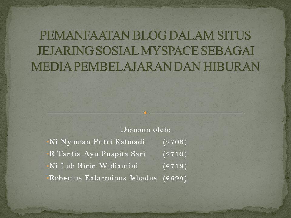 Disusun oleh: Ni Nyoman Putri Ratmadi (2708) R.Tantia Ayu Puspita Sari (2710) Ni Luh Ririn Widiantini(2718) Robertus Balarminus Jehadus(2699)