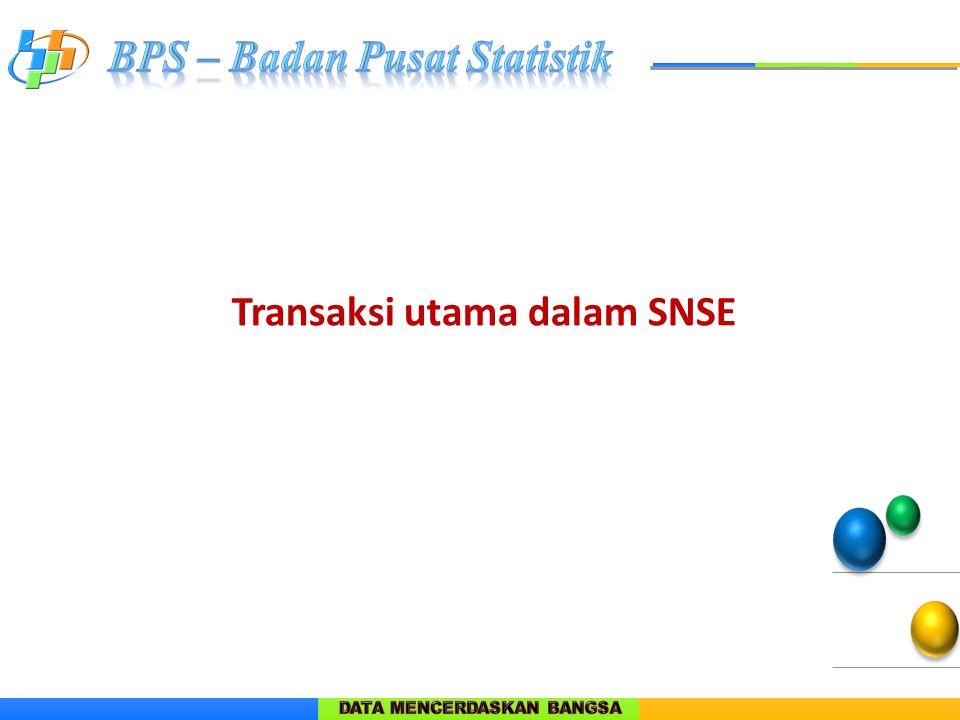 Transaksi utama dalam SNSE