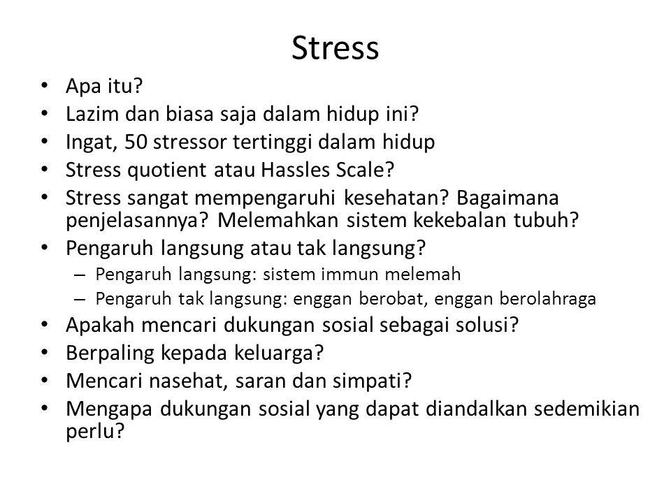 Stress Apa itu. Lazim dan biasa saja dalam hidup ini.