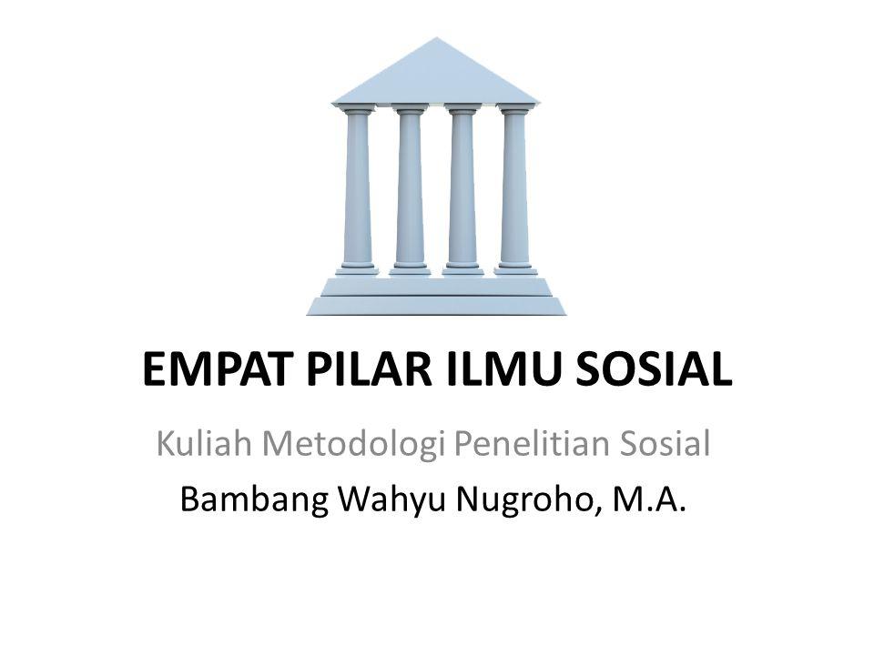 EMPAT PILAR ILMU SOSIAL Kuliah Metodologi Penelitian Sosial Bambang Wahyu Nugroho, M.A.