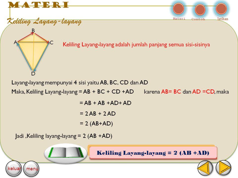 materi Keliling Layang-layang latihan keluar menu Keliling Layang-layang = 2 (AB +AD)