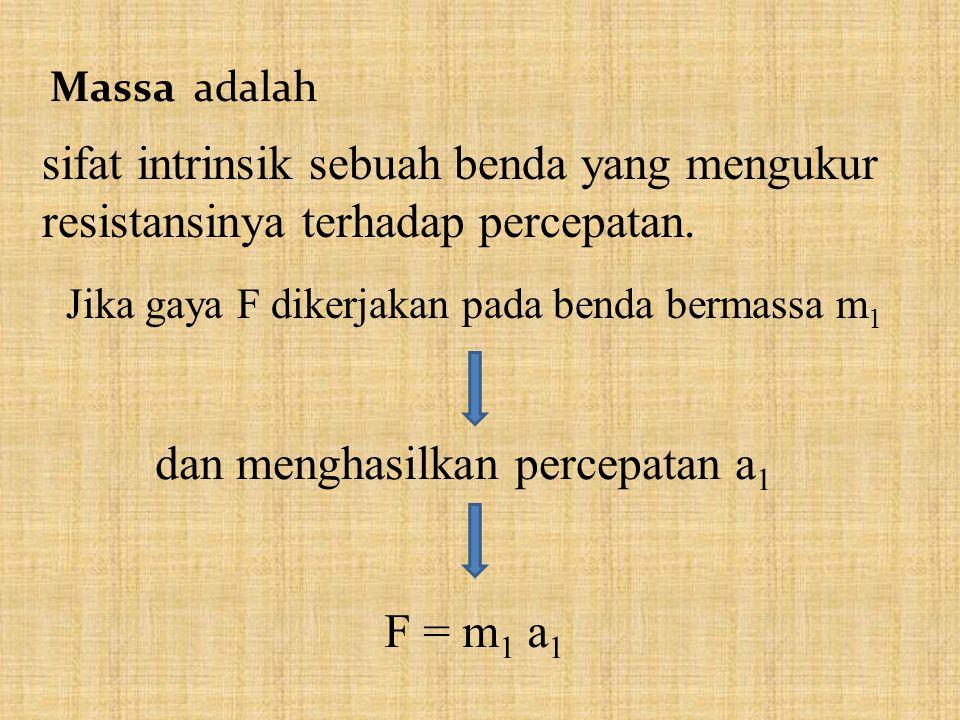 Massa adalah sifat intrinsik sebuah benda yang mengukur resistansinya terhadap percepatan.