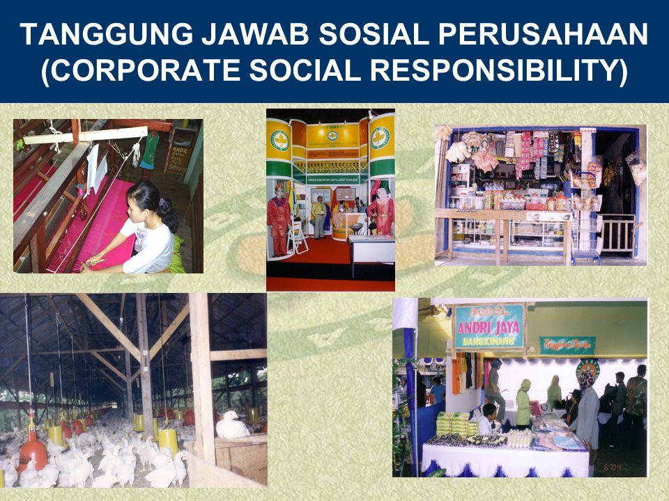 TANGGUNG JAWAB SOSIAL PERUSAHAAN (CORPORATE SOCIAL RESPONSIBILITY)