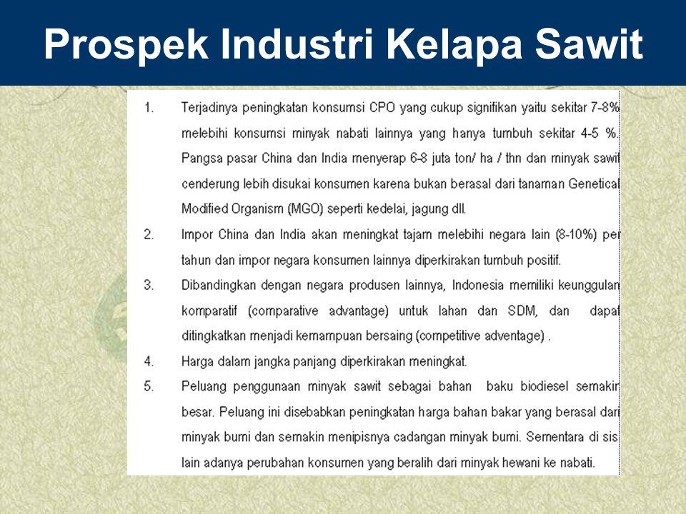 Prospek Industri Kelapa Sawit