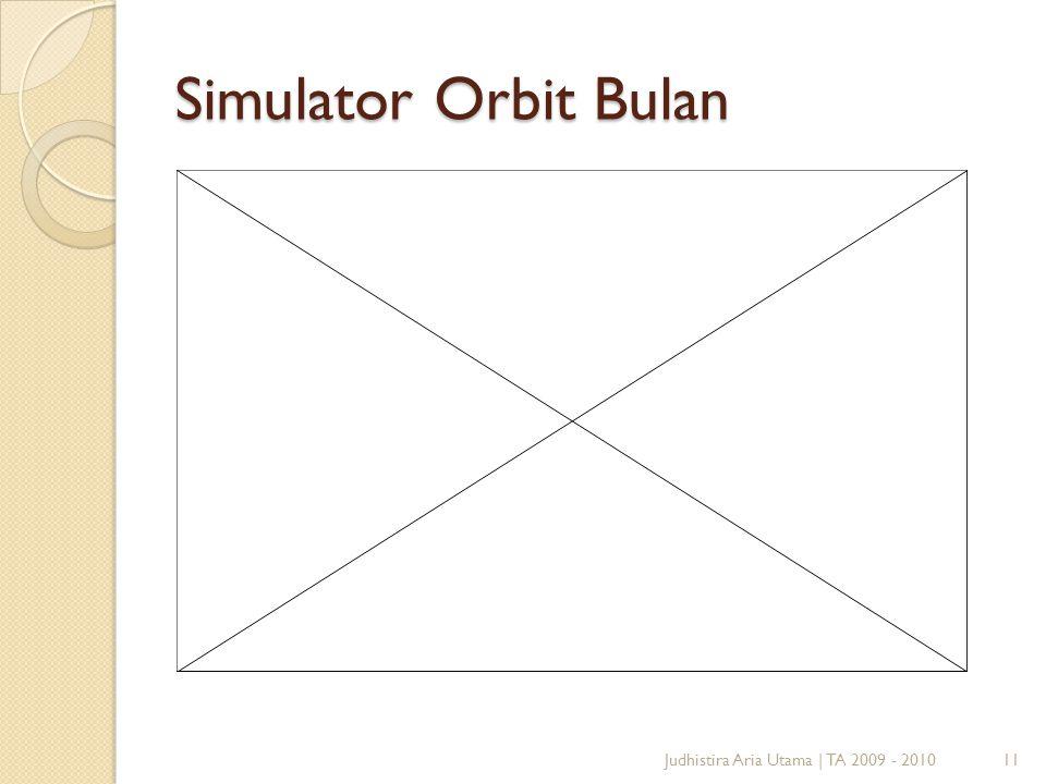 Simulator Orbit Bulan Judhistira Aria Utama   TA 2009 - 201011