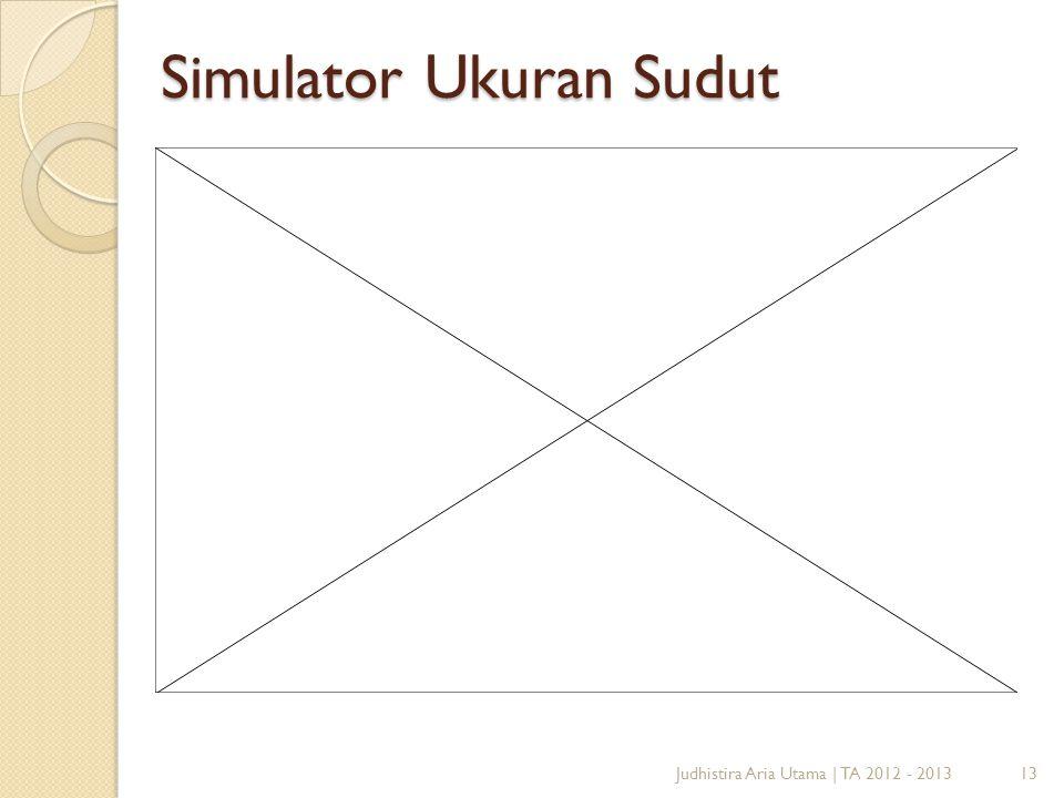 Simulator Ukuran Sudut 13Judhistira Aria Utama   TA 2012 - 2013