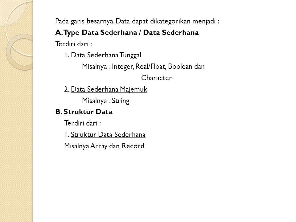 2.Struktur Data Majemuk Terdiri dari : a. Linier Misalnya : Stack, Queue dan Linear Linked List.
