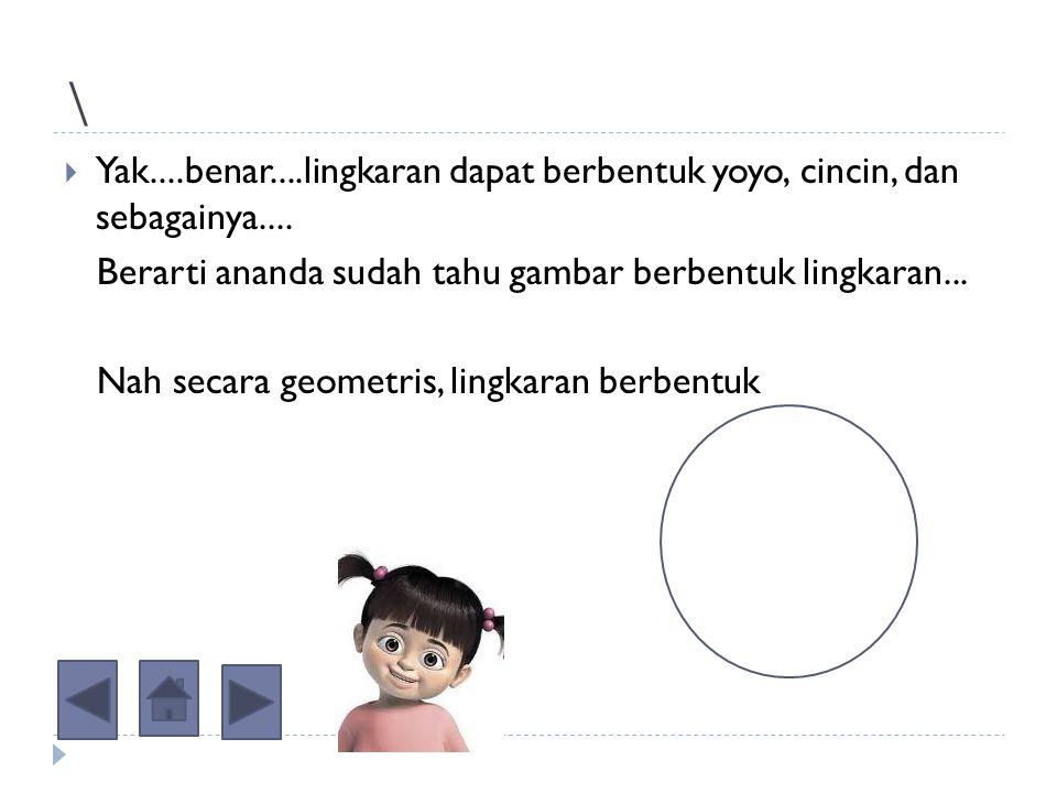 Jam dinding dan uang logam tersebut merupakan contoh gambar lingkaran.... Selain itu, coba sebutkan gambar-gambar yang berbentuk lingkaran......!