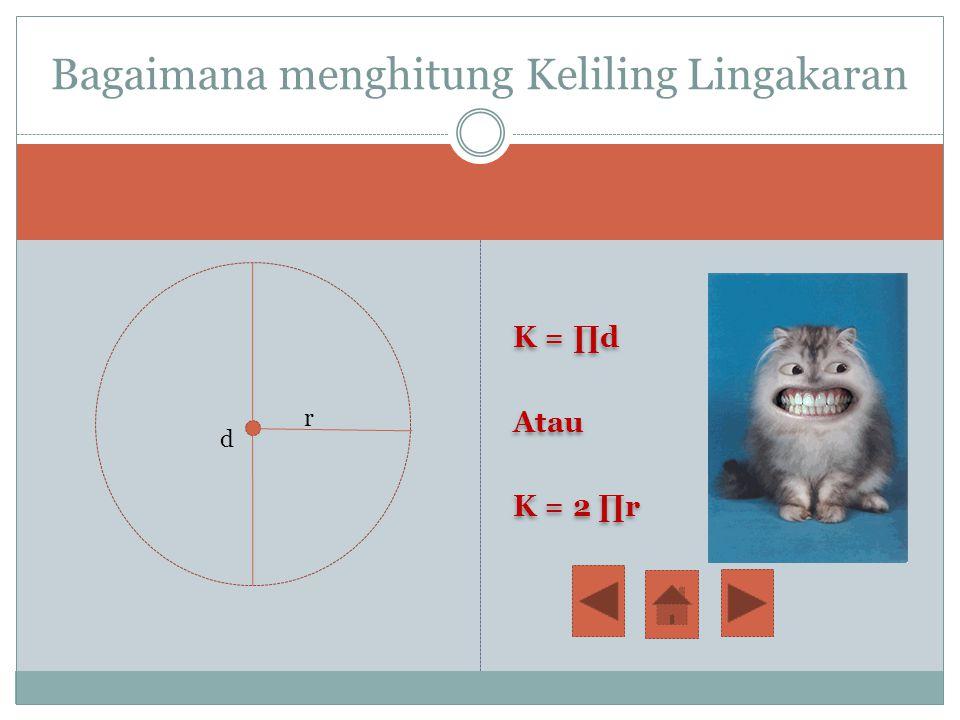 Keliling lingkaran Lingkaran dengan titik A Jika lingkaran dipotong pada titik A, maka lingkaran tersebut akan berubah menjadi garis lurus AA' Panjang
