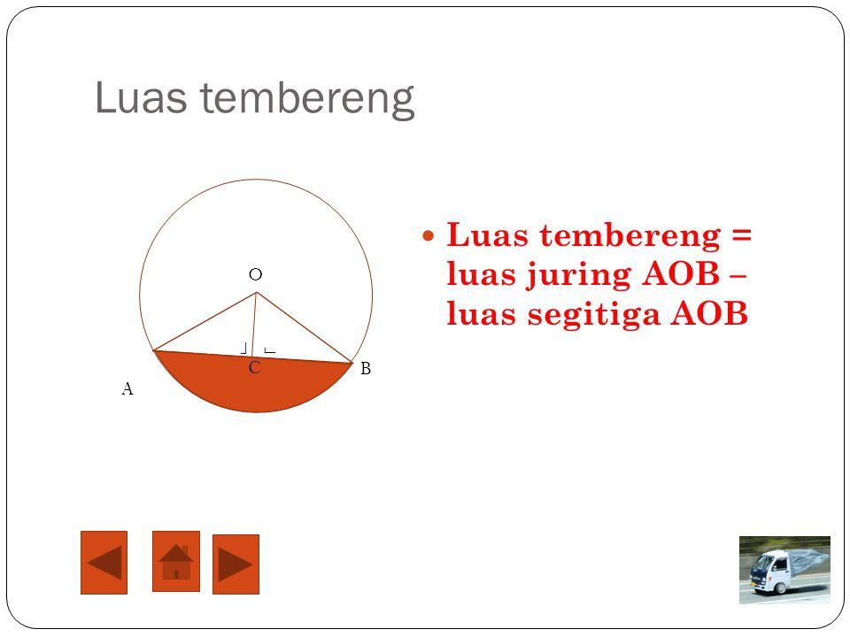 Panjang busur dan luas juring lingkaran O B A