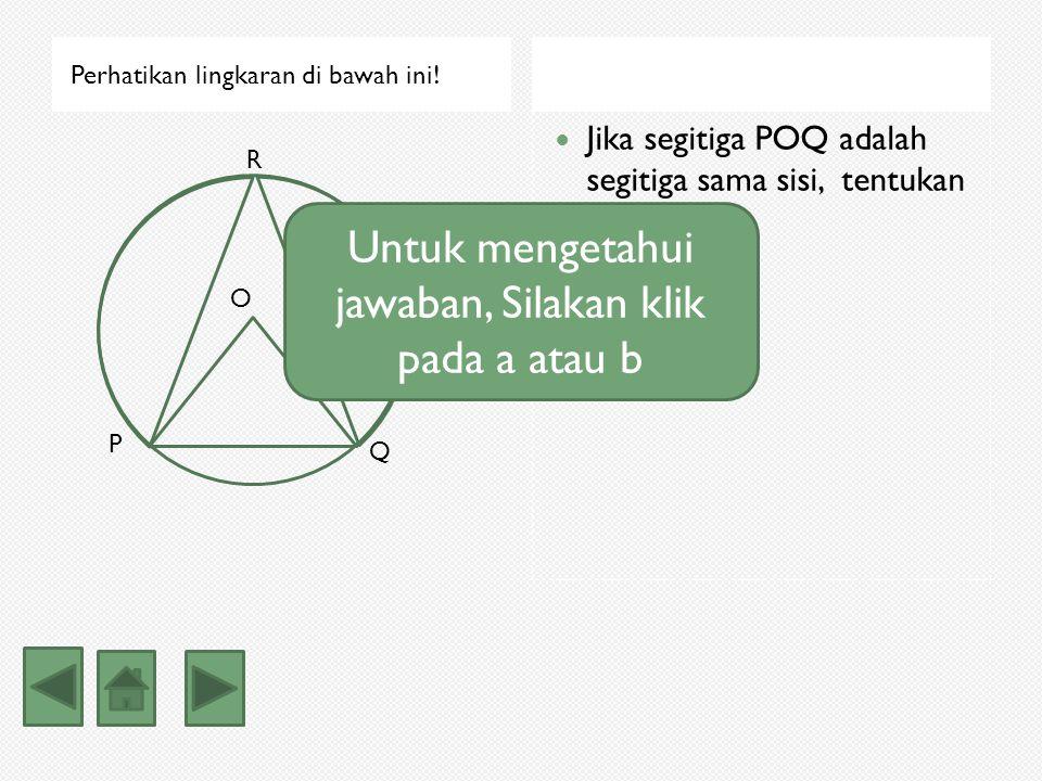 Luas tembereng Luas tembereng = luas juring AOB – luas segitiga AOB = 69 7/9 – 48 = 21 7/9