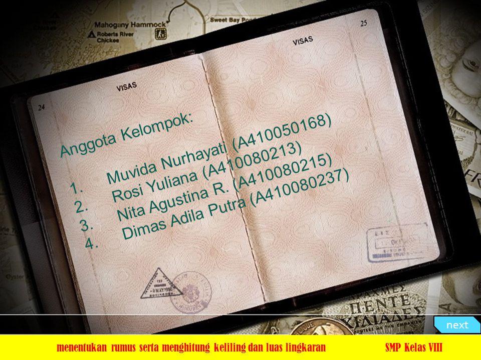 Anggota Kelompok: 1.Muvida Nurhayati (A410050168) 2.Rosi Yuliana (A410080213) 3.Nita Agustina R. (A410080215) 4.Dimas Adila Putra (A410080237) menentu