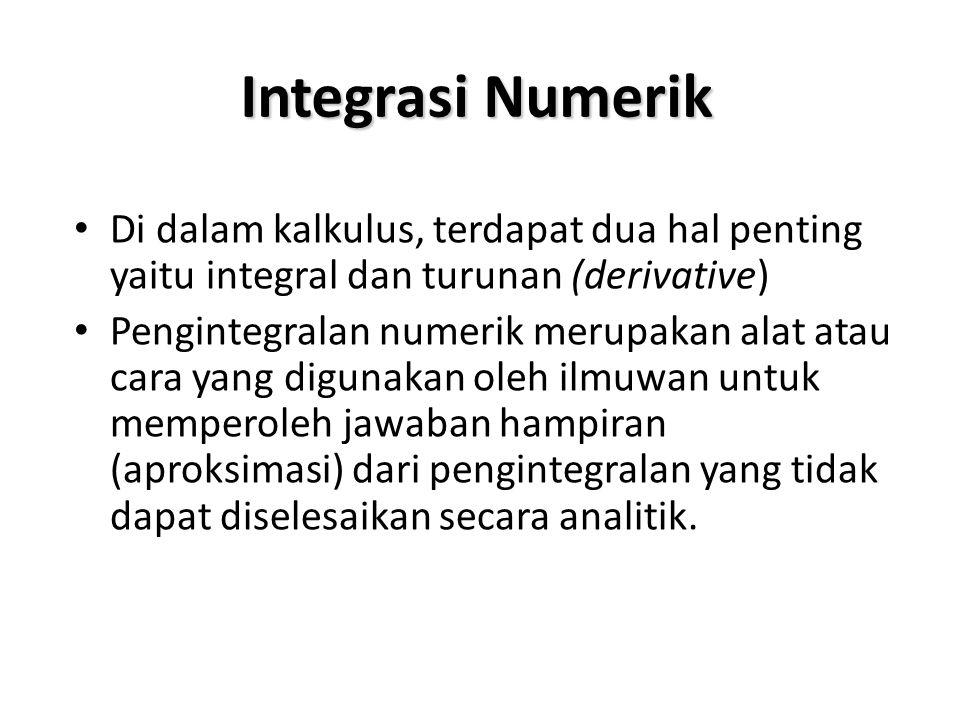 Perhitungan integral adalah perhitungan dasar yang digunakan dalam kalkulus, dalam banyak keperluan.