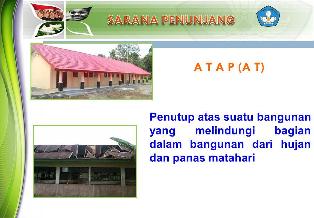 Penutup atas suatu bangunan yang melindungi bagian dalam bangunan dari hujan dan panas matahari A T A P (A T)