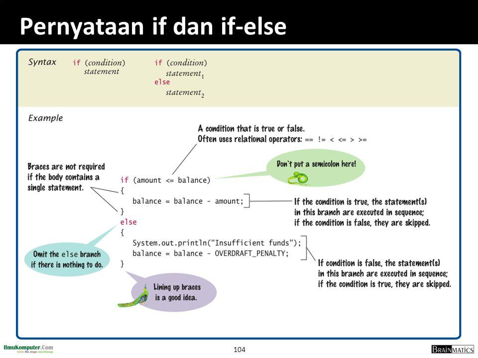 104 Pernyataan if dan if-else