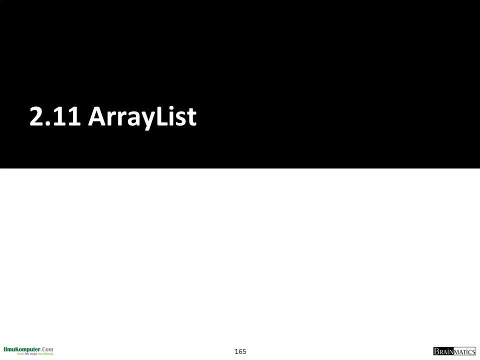 165 2.11 ArrayList