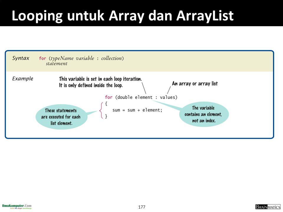 177 Looping untuk Array dan ArrayList