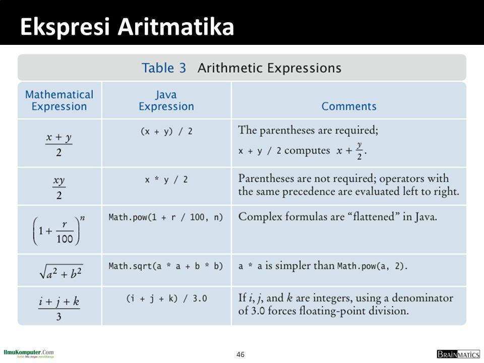 46 Ekspresi Aritmatika