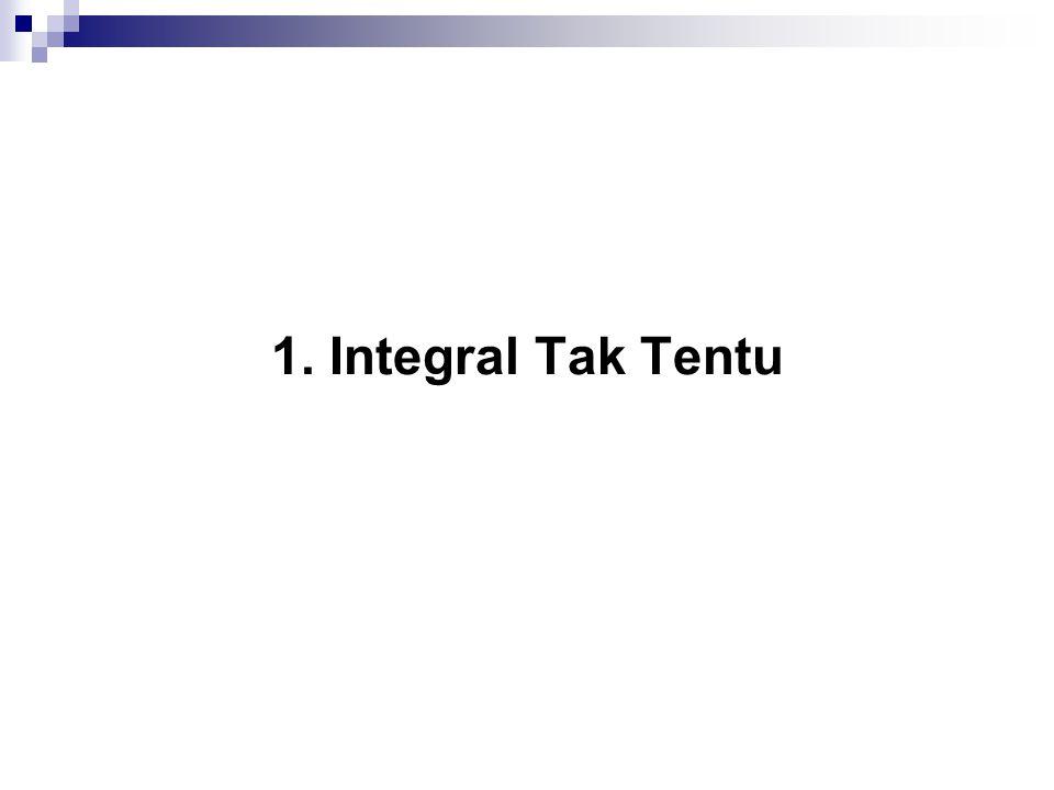 1. Integral Tak Tentu