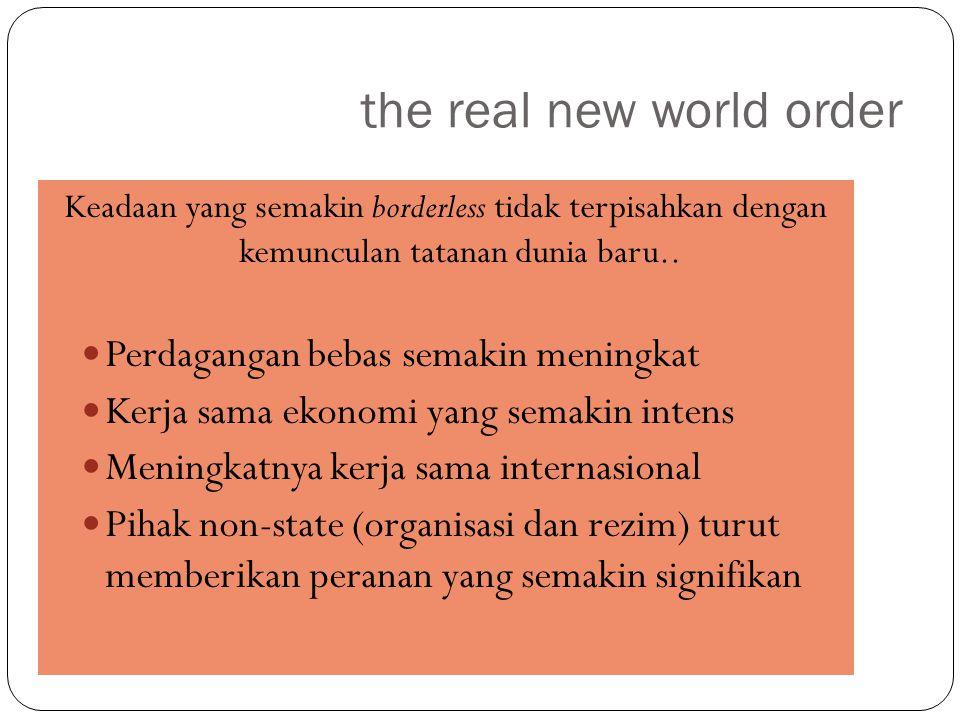 Kesimpulannyaaaa Dunia baru mungkin lebih stabil secara politis, tetapi secara ekonomis semakin kompetitif.