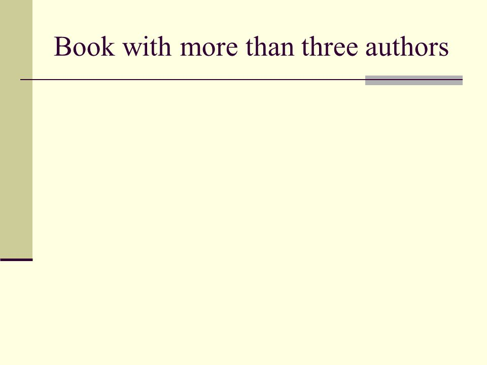 Book with more than three authors