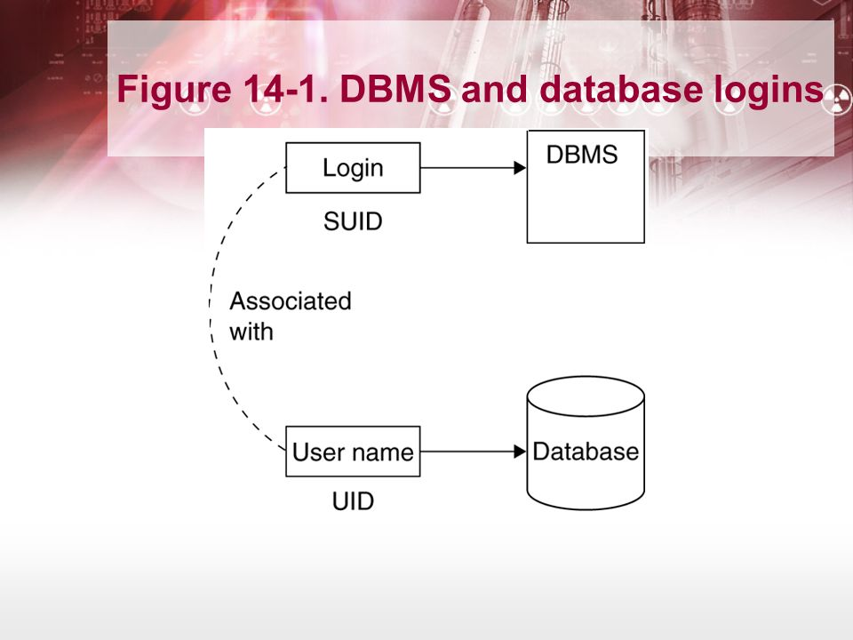 Figure 14-1. DBMS and database logins