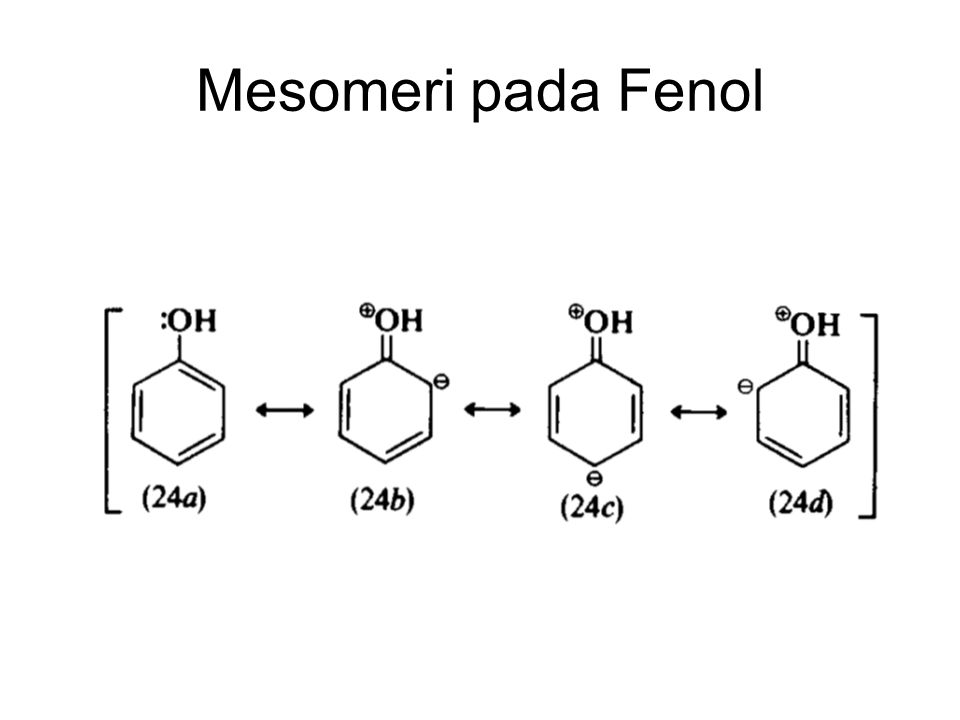 Mesomeri pada Fenol