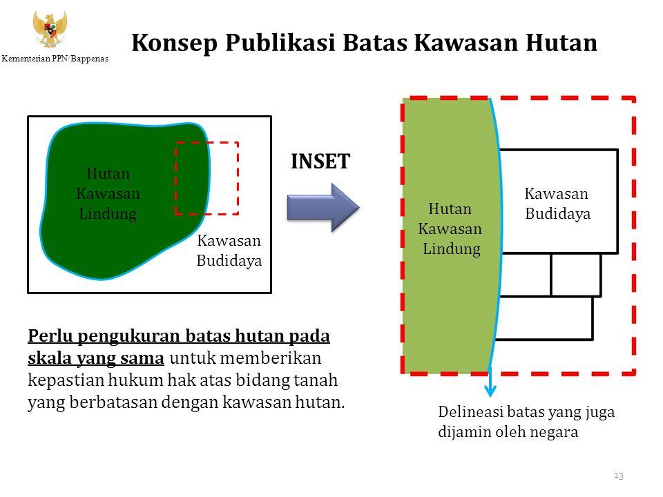 Kementerian PPN/Bappenas Konsep Publikasi Batas Kawasan Hutan Hutan Kawasan Lindung Delineasi batas yang juga dijamin oleh negara Hutan Kawasan Lindun