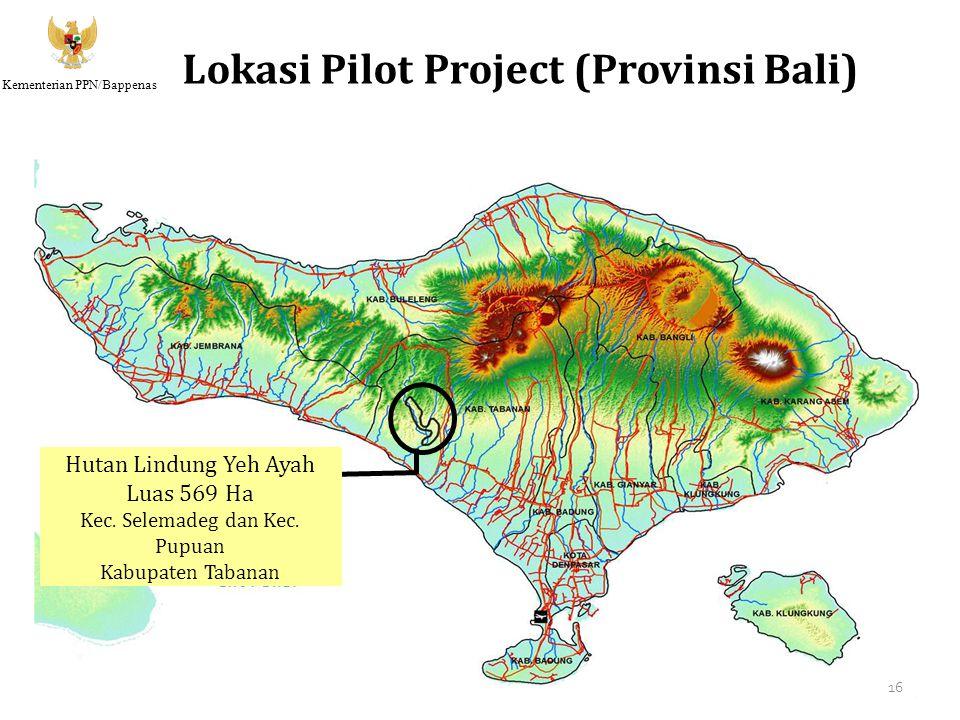 Kementerian PPN/Bappenas Lokasi Pilot Project (Provinsi Bali) Hutan Lindung Yeh Ayah Luas 569 Ha Kec. Selemadeg dan Kec. Pupuan Kabupaten Tabanan 16