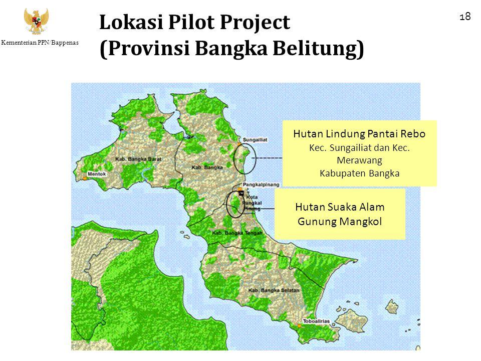 Kementerian PPN/Bappenas Lokasi Pilot Project (Provinsi Bangka Belitung) 18 Hutan Lindung Pantai Rebo Kec. Sungailiat dan Kec. Merawang Kabupaten Bang