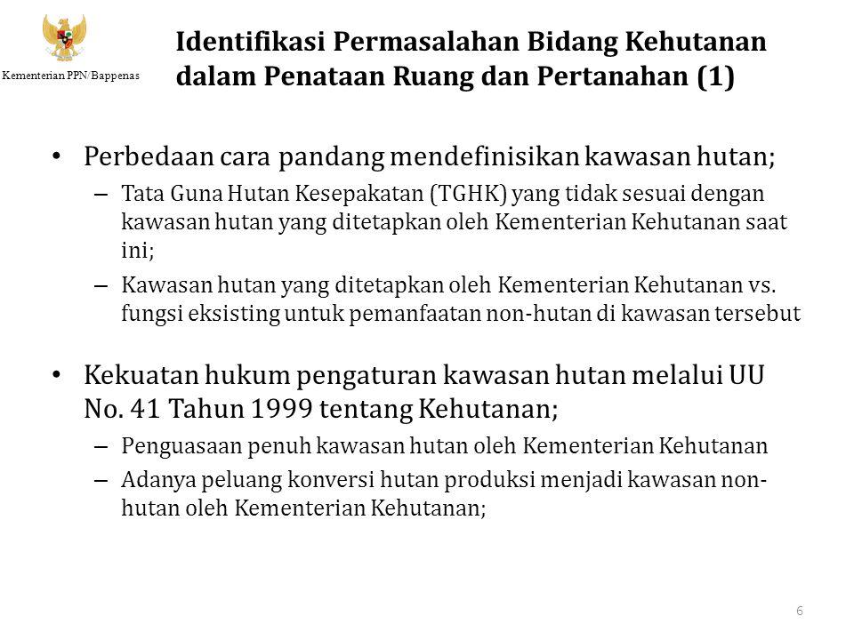 Kementerian PPN/Bappenas Gambaran Lokasi Pilot Project 17 Hutan Yeh Ayeh terletak di Kabupaten Tabanan Propinsi Bali merupakan salah satu hutan dengan status Hutan Lindung.