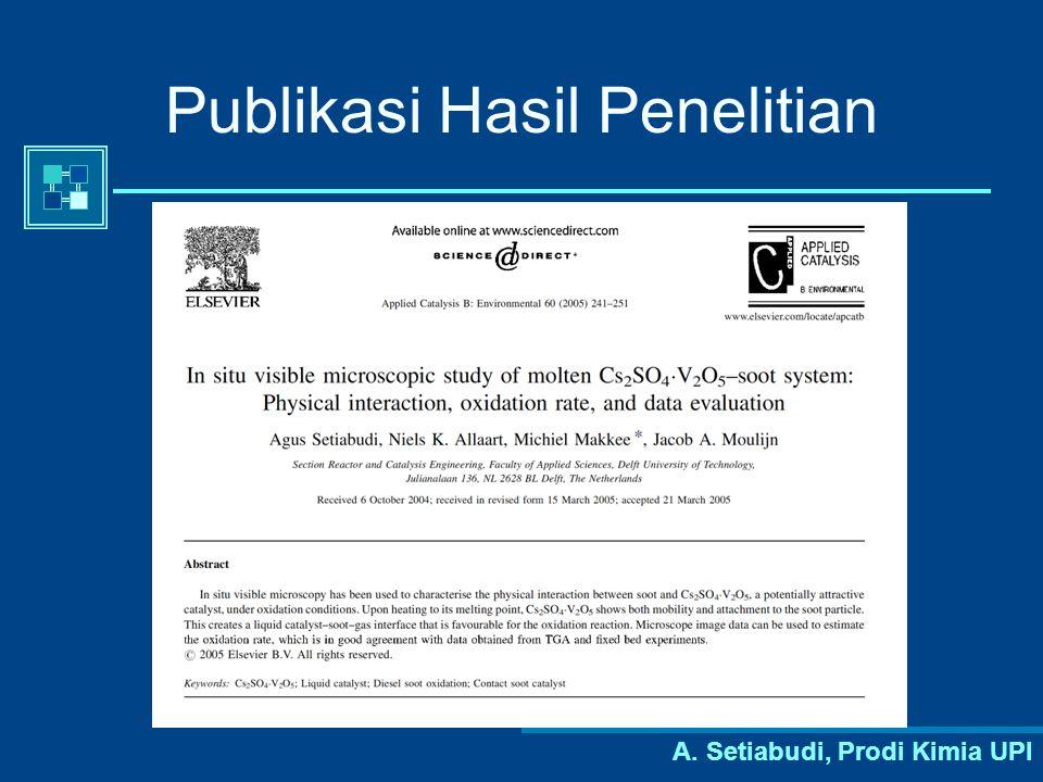A. Setiabudi, Prodi Kimia UPI Publikasi Hasil Penelitian