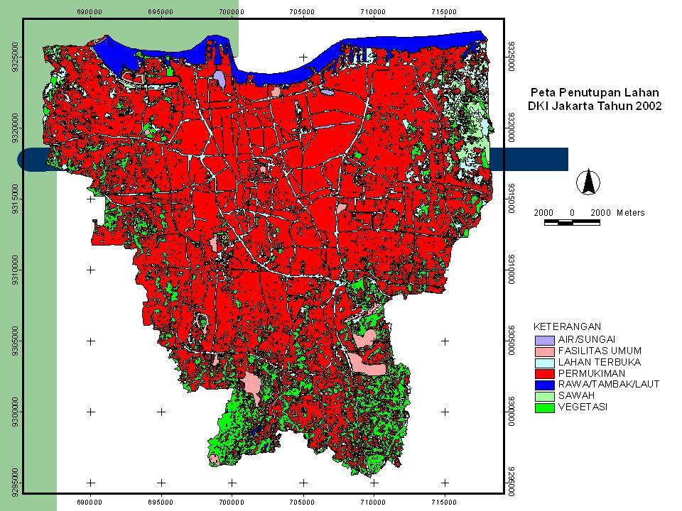 URBAN LAND RATIO JAKARTA-BOGOR-TANGERANG DAN BEKASI 1992