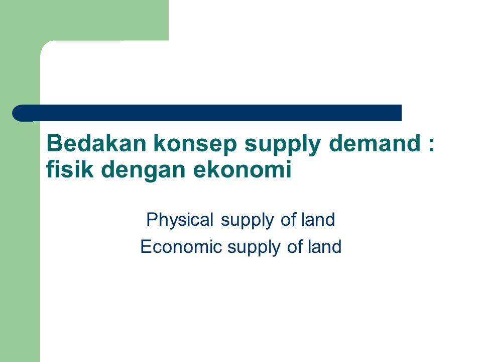 The supply of land and improvements Supply of land to the urban land market can not be developed without being completely integrated with land use regulations Market analysis begins with assessment of local business activity.