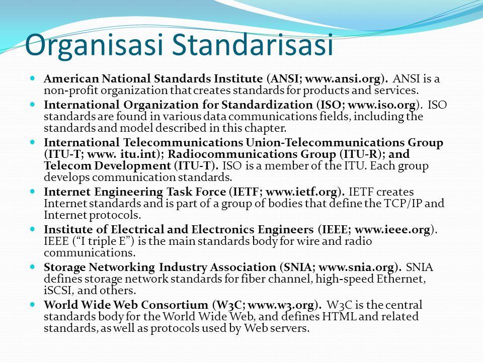Perbandingan secara Umum TCP/IP Sebuah standard yang diadopsi seluruh dunia (Internet) Protocol ada dulu, model TCP/IP menyesuaikan dengan protocol yang ada.