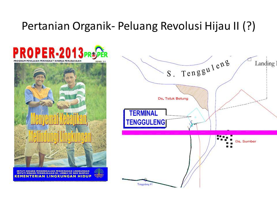 Pertanian Organik- Peluang Revolusi Hijau II (?)