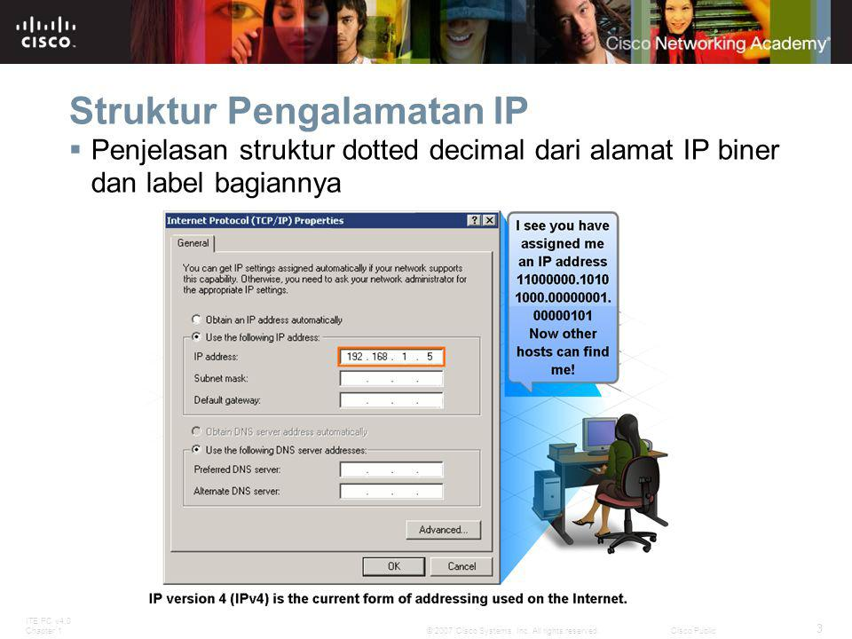 ITE PC v4.0 Chapter 1 14 © 2007 Cisco Systems, Inc.