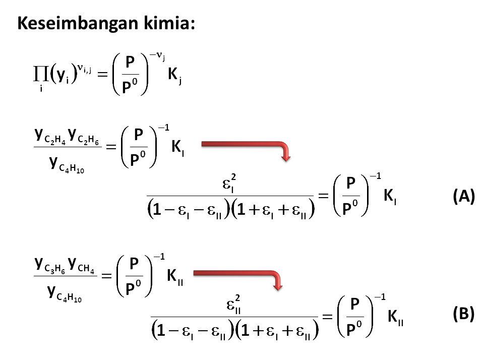 Keseimbangan kimia: (A) (B)