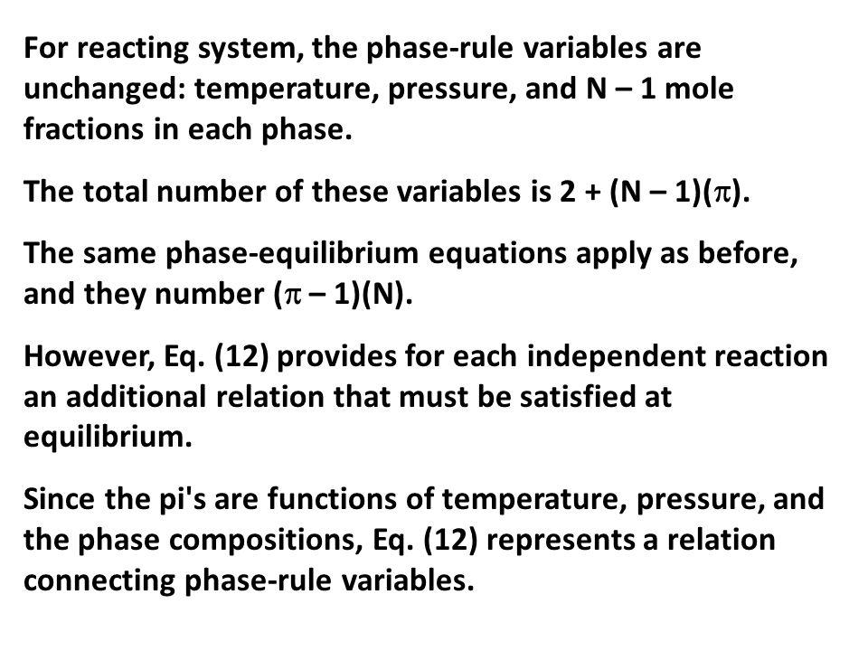 Dengan cara yang sama diperoleh: Harga K a sangat besar, yang berarti bahwa reaksi (a) merupakan reaksi irreversibel dan semua O 2 habis bereaksi dengan C menjadi CO 2 [reaksi (a)].