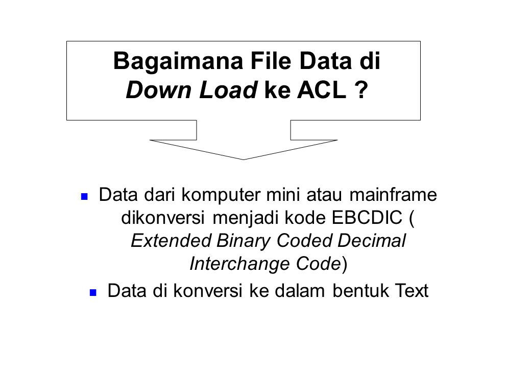 Kemampuan software ACL .