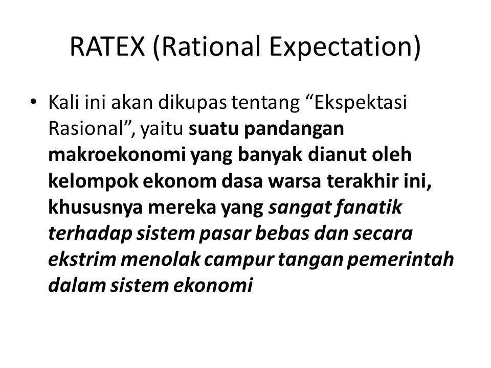 """RATEX (Rational Expectation) Kali ini akan dikupas tentang """"Ekspektasi Rasional"""", yaitu suatu pandangan makroekonomi yang banyak dianut oleh kelompok"""
