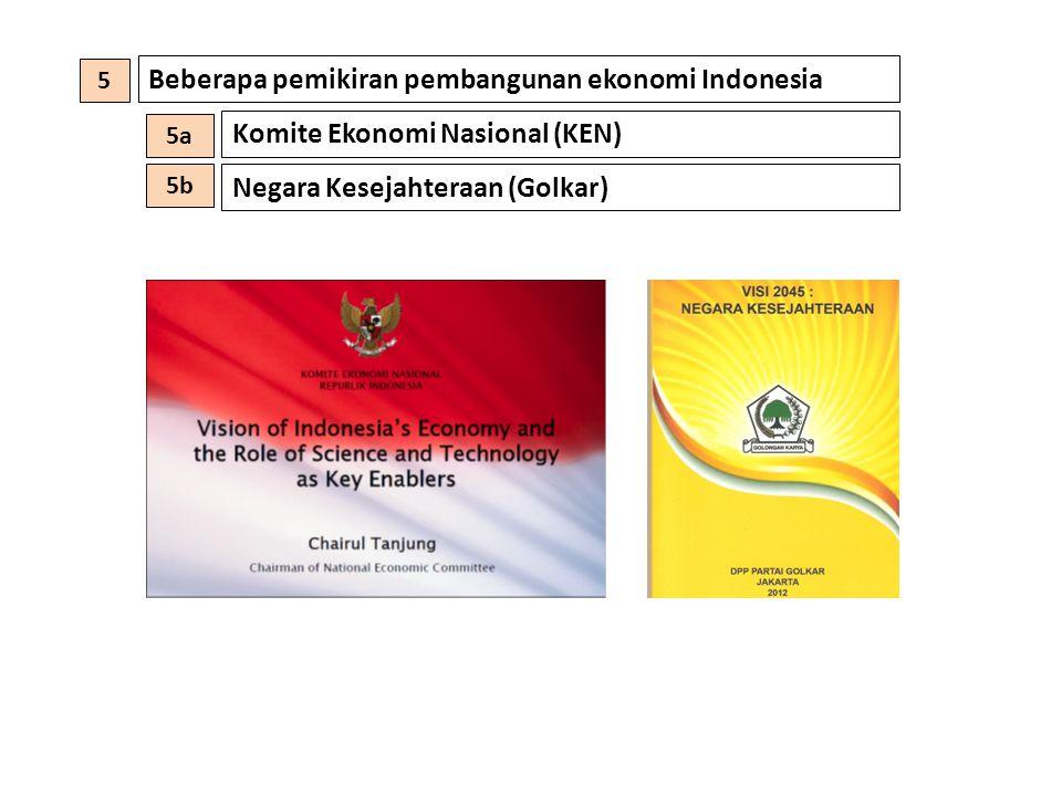 Beberapa pemikiran pembangunan ekonomi Indonesia Komite Ekonomi Nasional (KEN) Negara Kesejahteraan (Golkar) 5 5a 5b